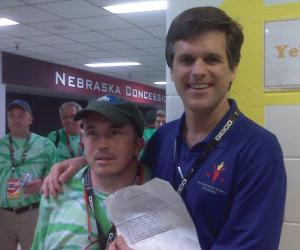 Trey Marabella, with Tim Shriver at the Special Olympics National Games in 2010.