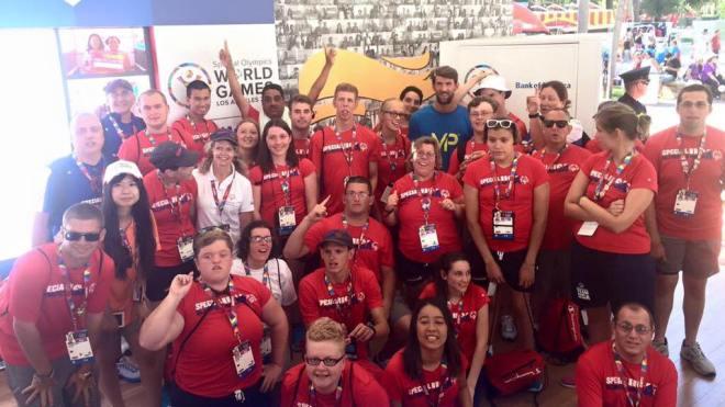 Phelps w/ Special Olympics USA
