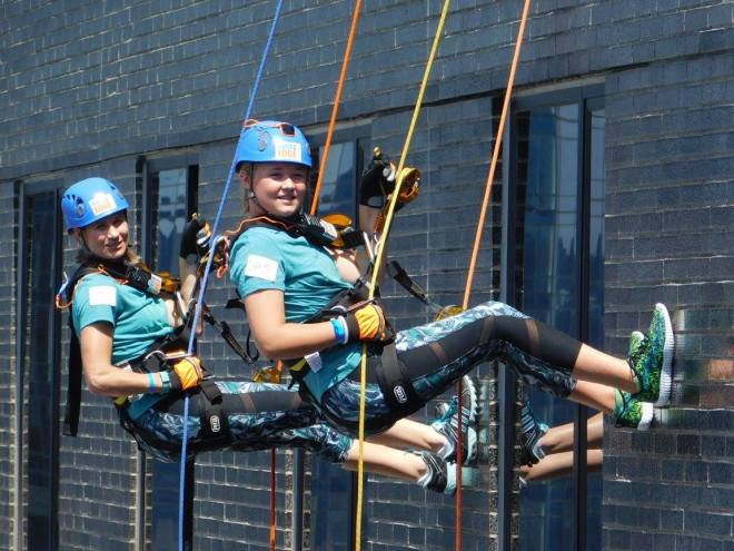 Fundraising for Special Olympics Over the Edge 2016